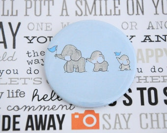 Baby Party Pinback / Button Badges / Baby Elephant Theme / Pin buttons