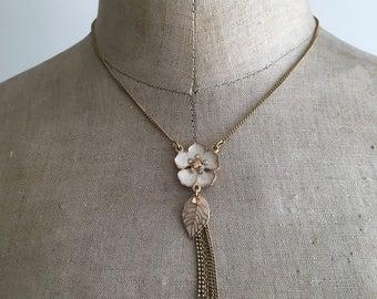 Pilgrim Unused Flower and Leaf Necklace