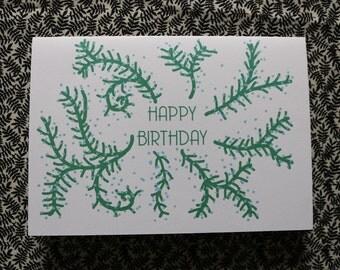 Growing vines birthday card