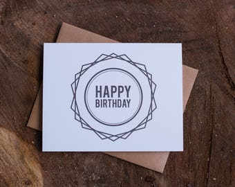 Happy Birthday Geometric Card Set