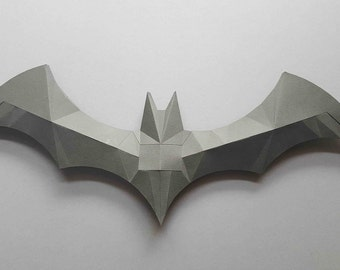 Batman,logo,wall decor,hanging,batman DIY, gift, papercraft, home decoration, paper animals, polygonal,gift
