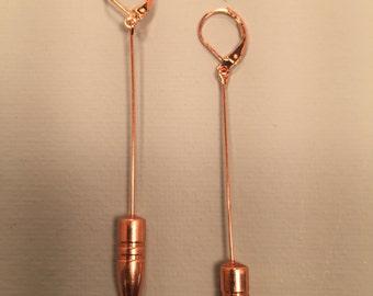22 caliber all copper bullet earrings