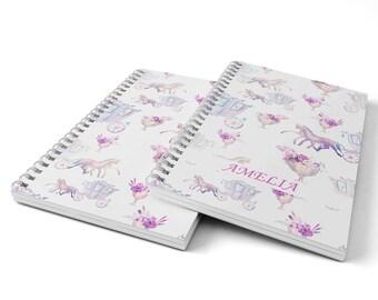 Princess Notebook.  Hard Cover Spiral Notebook. Notepad. Journal.