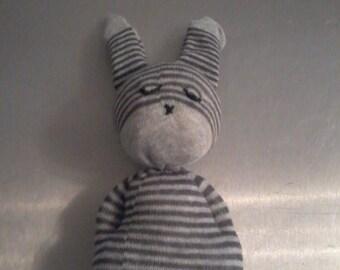 Doudou rabbit for baby. Birth gift idea. A CUSTOMIZE