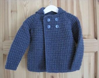 Baby boy jacket, Baby Boy Cardigan, Baby boy knit, Baby knit, Boy cardigan, Baby sweater, Baby knit