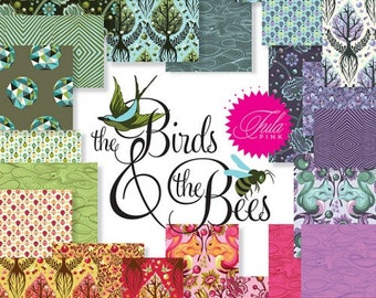 Tula Pink The Birds and the Bees Fat Quarter Bundle