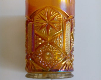 Carnival Glass Tumbler - Star and File
