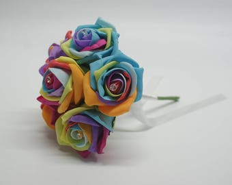 Wedding Posy - Perfect for Bridesmaids ( Rainbow )