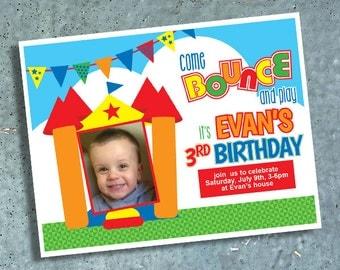 Bouncy House Birthday Invitation