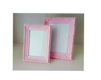 Pink Shabby Chic Antique Style Photograph Photo Frames