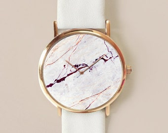 Women Watch, Marble Watch, Watch, Customize Watch Personalized gift Marble Watch, Watch, Women Watches, Leather Strap, Marble Accesories