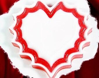 Heart Soap.Wavy Heart.Valentine's Gift,Wedding Favor,Party Favor