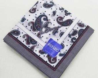 FREE SHIPPING!!! KENZO Homme Paisley Hanky Handkerchief
