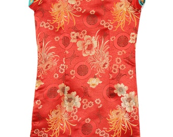 Red volcano Dress for kids 7 years