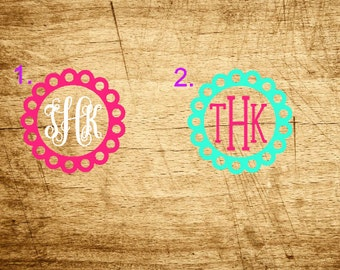 Flower Monogram Decal