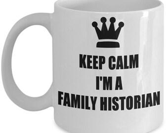 Genealogist Mug for a Family Historian - family history gift - geneology gift - gift for geneologist - keep calm I'm a family historian