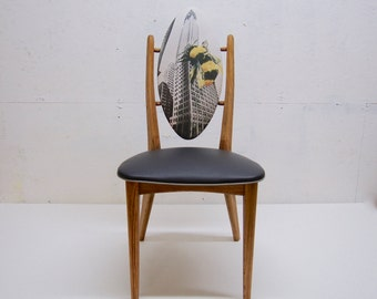 "Locket ""King Bee"" Chair / Oval Back Chair /Wooden Chair"