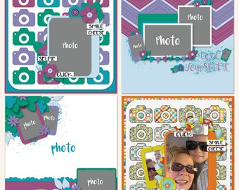 Love Yourselfie Digital Scrapbooking Templates in PAGE Format
