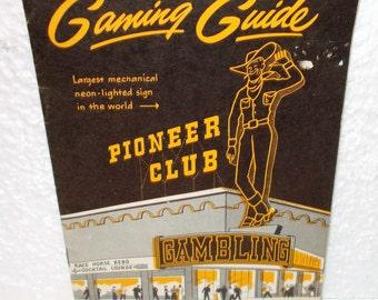 Souvenir Gaming Guide Pioneer Club Hotel & Casino (c) 1948