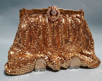 Vintage Whiting and Davis Gold Mesh Evening Bag