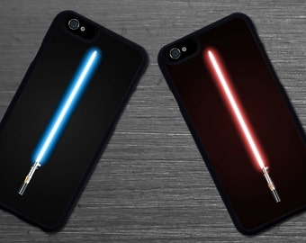 Star Wars Lightsaber blue or red case. Iphone 6 / 6s / 6 plus / 7 / 7 plus Phone case Plastic / Silicone Rubber
