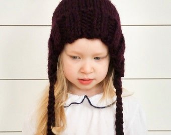 Toddler Pom Pom Pixie Hat | Knitted pixie hat, baby knitted hat, Christmas gifts, gifts under 50, knitwear, kids fashion, winter hat, Bonnet
