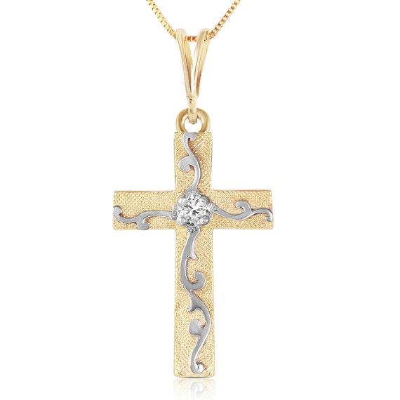 Gold Cross with DIAMOND