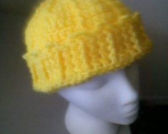 Bright Yellow Jughead Beanie