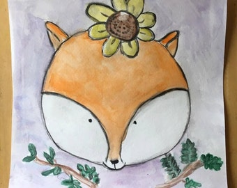 11x11 Woodland Creature Watercolor Illustrations