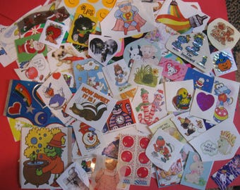 Lot of vintage stickers 130 pieces lot B