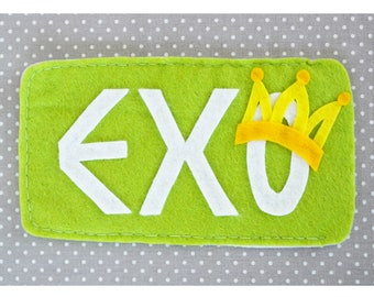 KPOP pouch for smartphone with logo of the boysband EXO (SM Entertainment), handmade and unique accessory for exo-love