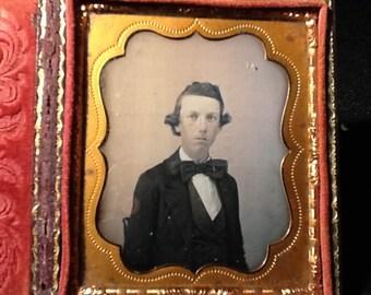 Antique Daguerreotype  Photo in Case