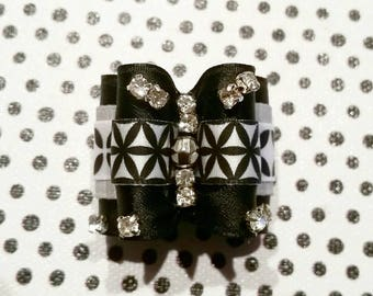 Dog hair bow- BLACK WHITE WORLD - unique dog bow (pet hair accesories,dog hair accesories)*gift for little dogs *gift for her dog