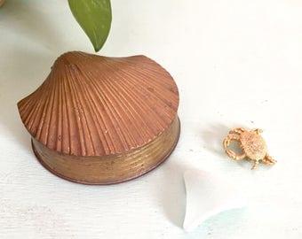 Brass Seashell Box