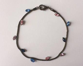 Vintage 90's Pink Lilac Blue Bracelet
