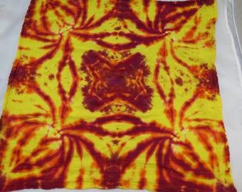 Tie Dye Bandana/ Tapestry- Spiders in the Corners
