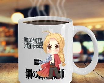 Anime Manga Fullmetal Alchemist Chibi Coffee Mug