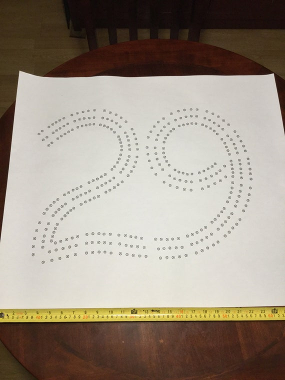 Large 29 cribbage board hole pattern paper template for Cribbage board drilling templates