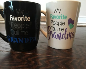 My Favorite People Call Me ... Individual mugs