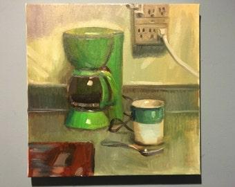 Morning Coffee-Original Oil painting