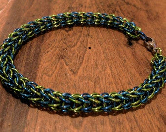 Lime and Royal Blue Full Persian Bracelet