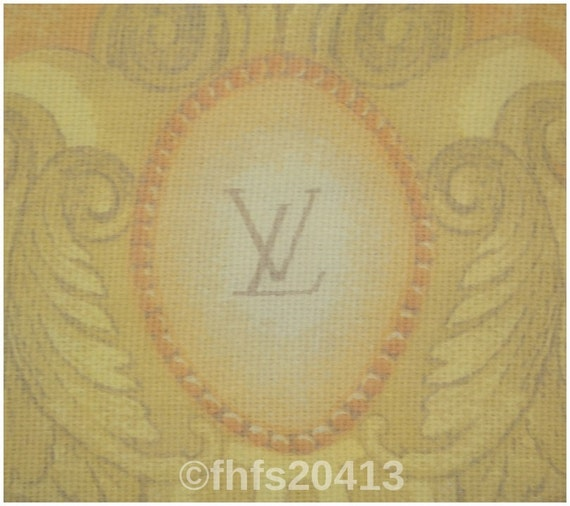 Authentic LV Louis Vuitton wide chiffon silk scarf shawl wrap made in Italy