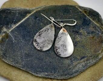 Ceramic saggar fired earrings