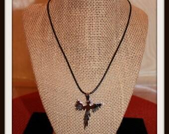 Silver Phoenix Pendant Charm Necklace, Silver Phoenix Pendant Necklace, Silver Phoenix Charm Necklace