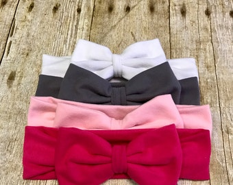Bow headband, messy bow headband