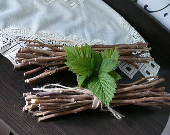 Branches of raspberry, Home decor, Natural branches, Wood branches, natural wood stick, simple minimalist