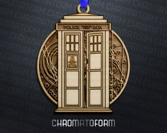 Doctor Who TARDIS Ornament - Laser engraved