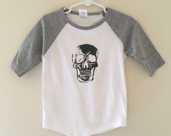 """Boys Shirt """"Sketchy Skull"""""""