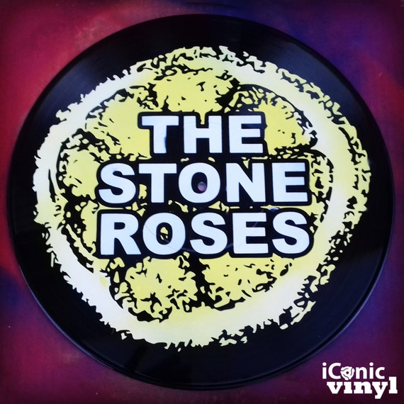 The Stone Roses hand-sprayed Vinyl Record