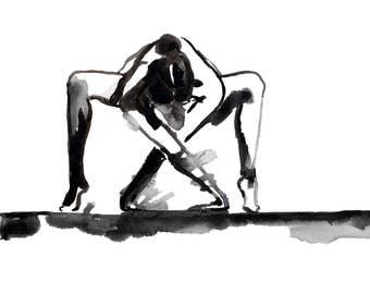 Yoga pose - Fine Art Print